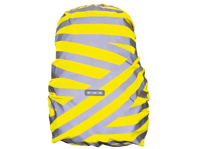Wowow Berlin Backpack Cover, silver reflective stripes/yellow